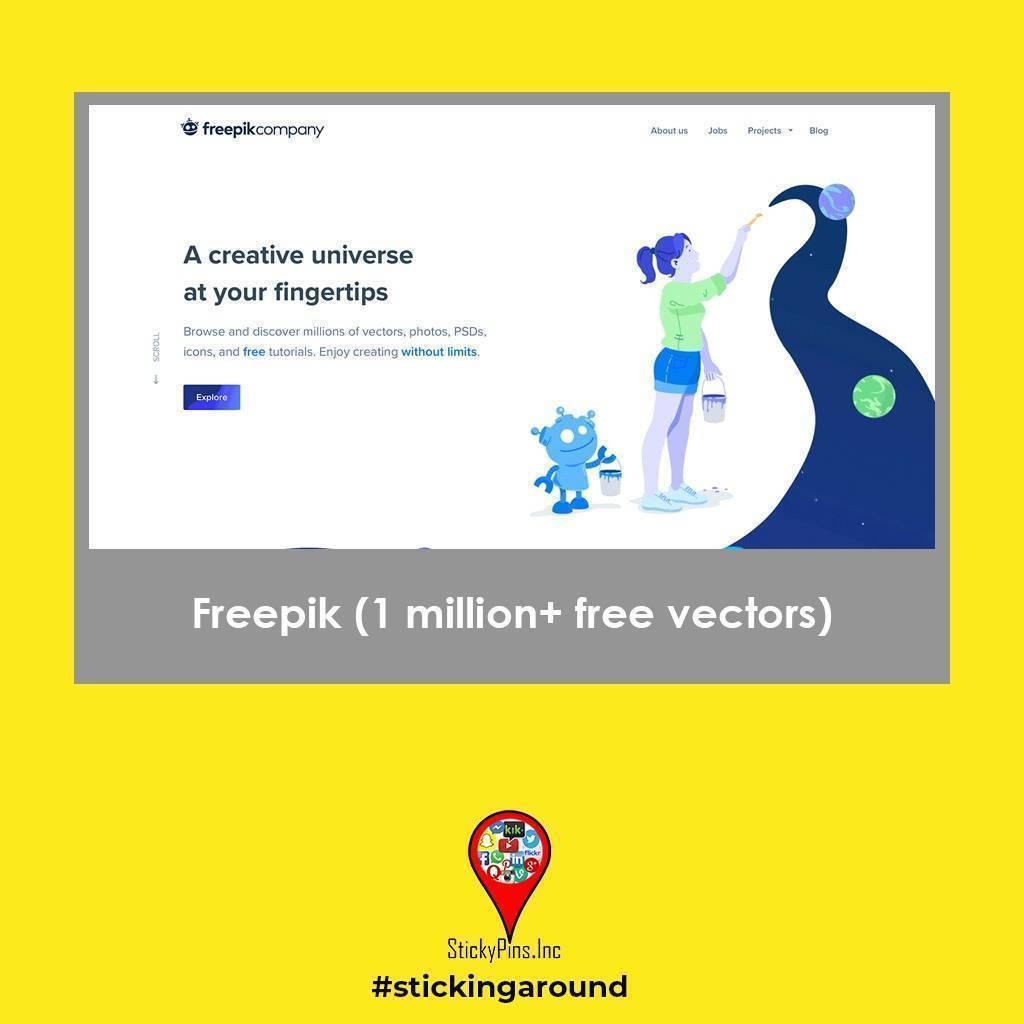Freepik - StickyPins